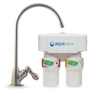 Aquasana 2-stage Brushed Nickel Undercounter Claryum Water Filter