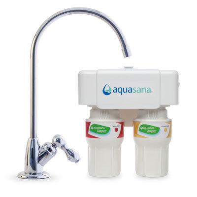 Aquasana 2-division Chrome Undercounter Claryum Water Filter