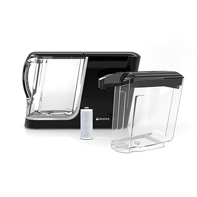 Aquasana Powered The finest Filter System Pitcher & Dispenser - Black