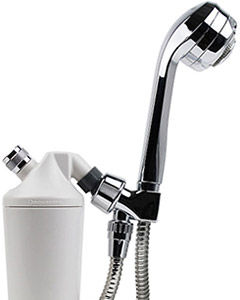 Shower filter with chrome wand