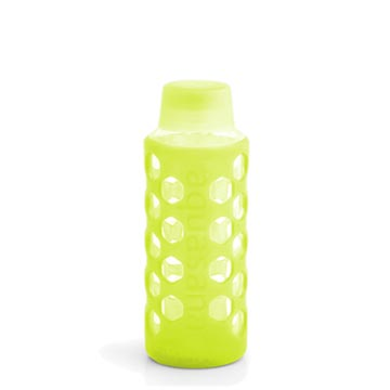 Bottle with Silicone Sleeve & Cap - Lt Green