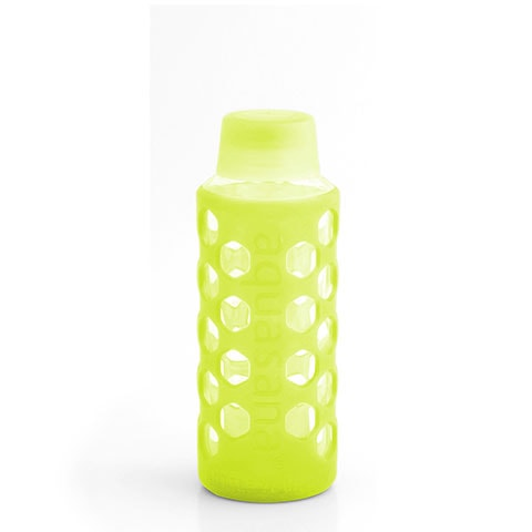 18 oz. Glass Bottle with Silicone Sleeve - Single