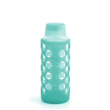 Bottle with Silicone Sleeve & Cap - Teal