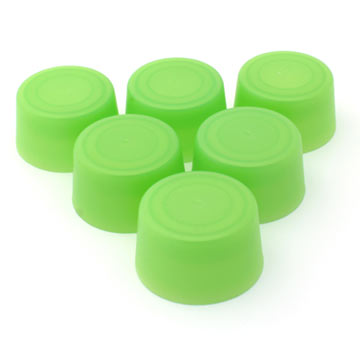 Replacement Bottle Caps (6-pack) - Green