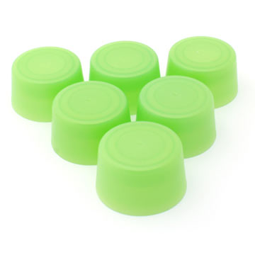 Replacement Bottle Caps (6-pack) - Lt Green