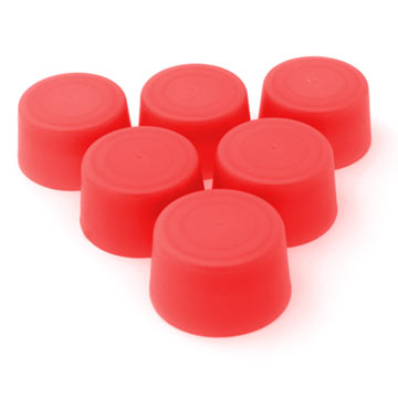 Replacement Bottle Caps (6-pack) - Red