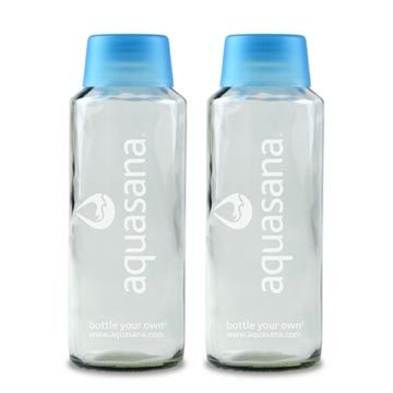 18 oz. Glass Water Bottle Twin-Pack