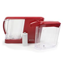 Aquasana Powered Water Filter System Pitcher & Dispenser - Red