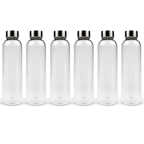 Premium 550 ml Glass Bottles Six-Pack