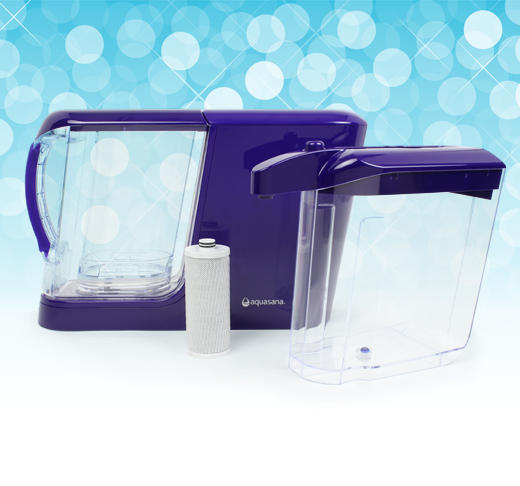 powered water filtration system with dispenser and pitcher
