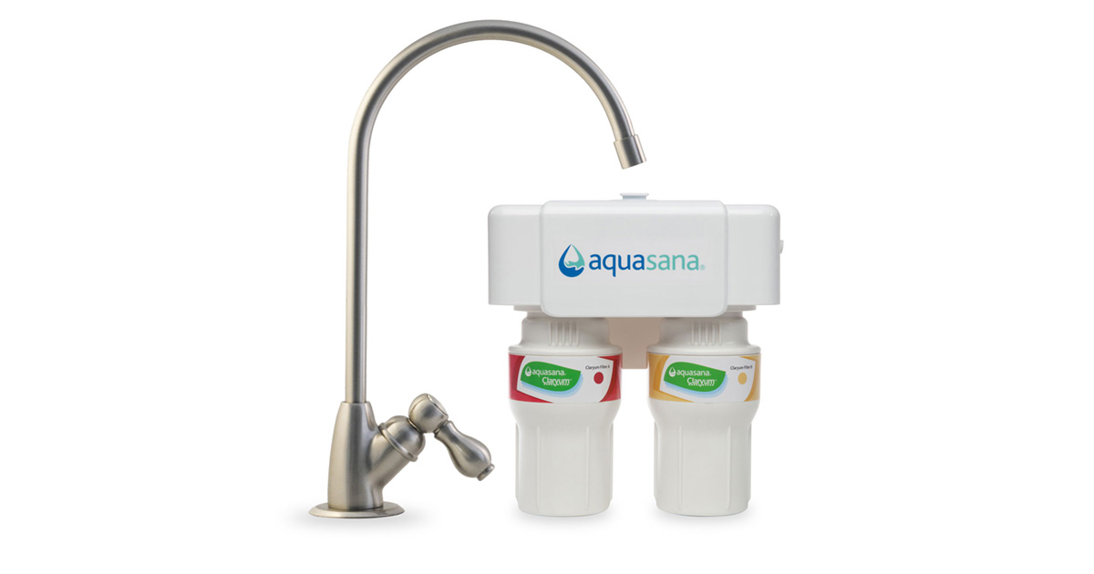 2 Stage Under Counter Faucet Water Filter Aquasana