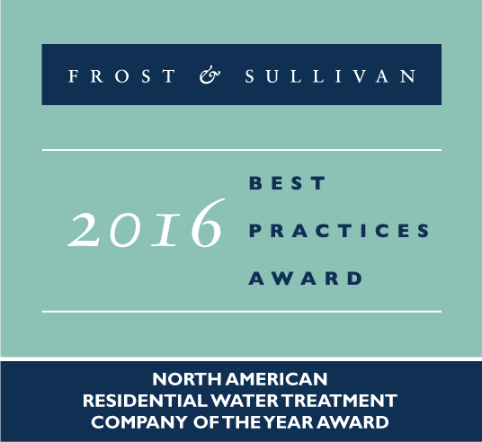 North American Company of the Year for Residential Water Treatment Award